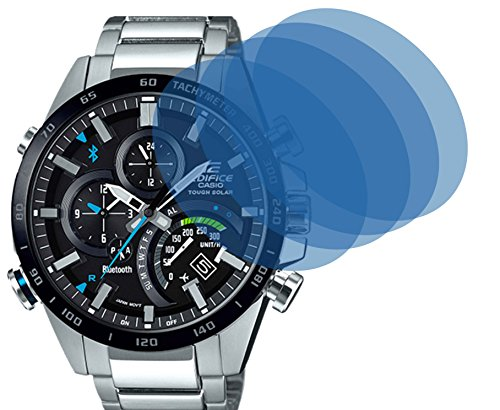 4x Crystal clear klar Schutzfolie für CASIO BLUETOOTH WATCH Premium Displayschutzfolie Bildschirmschutzfolie Schutzhülle Displayschutz Displayfolie Folie