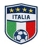 Club-of-Heroes 2er-Pack, Italien Fußball/Stick Abzeichen 70 x 55 mm/Stickerei, Aufbügler, Applikation, Patch, Bügelbild für Kleidung, Shirt, Cap, Taschen/Fußball National Team Dress Trikot Flagge Fan