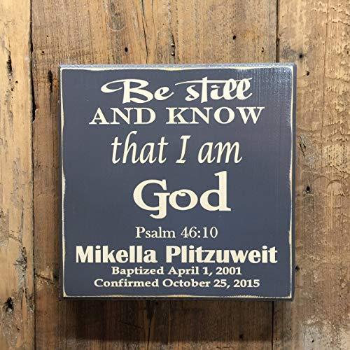 Eyrrme Konfirmationsgeschenk Kommunion Geschenk Abschlussgeschenk Taufgeschenk Personalisierter Bibelvers Geschenk für Mädchen Geschenk für Jungen (Auf Kommunion Bibelverse)