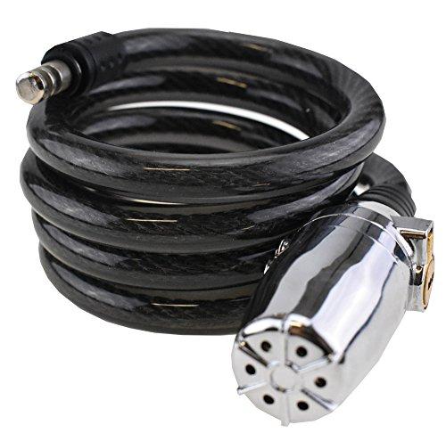 Ecolle bicicleta alarma Candado cable espiral 12mm x 120cm | para