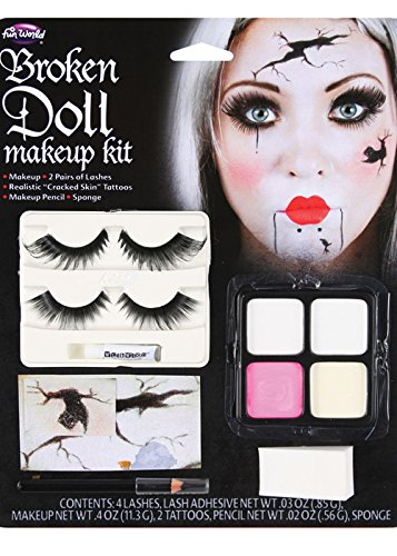 Halloween Gothic zerbrochene Puppe Make up (Kit Gothic)