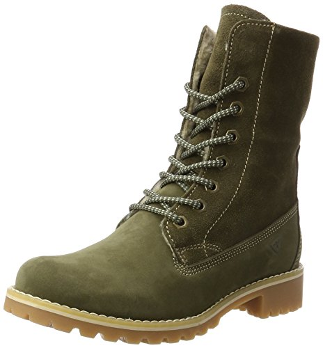 Tamaris Damen 26443 Combat Boots, Grün (Olive), 40 EU (Oliven-boot)