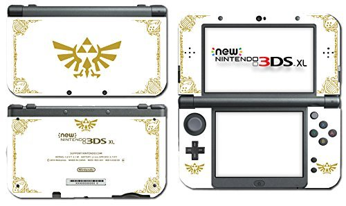 Legend of Zelda Majora's Mask Special Edition White Gold Video Game Vinyl Decal Skin Sticker Cover for the New Nintendo 3DS XL LL 2015 System Console by Vinyl Skin Designs (3ds New Majoras Nintendo Xl Mask)