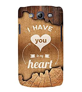 You Are My Heart 3D Hard Polycarbonate Designer Back Case Cover for Samsung Galaxy S3 Neo :: Samsung Galaxy S3 Neo i9300i
