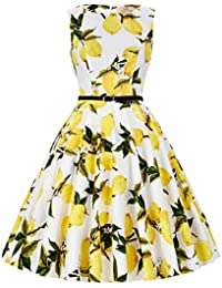 4eea1adcfa098c 1950s Vintage A-Line Cotton Hepburn Swing Fancy Party Dress with Belt  XS~Plus
