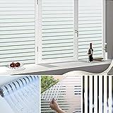 GOGO GO Dekorfolie UV-Schutz 90x200CM Fensterfolie statisch haftend ohne Klebstoff für Bad, Fenster, Wiederverwendung,Sichtschutzfolie