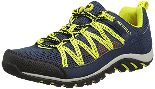 MerrellCoastrider - Scarpe da tennis Low-Top uomo , Blu (Denim Blue/Sulphur), 44 EU