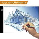 AideMeng Tableros de Dibujo Portátil A4, Mesa de Luz Dibujo Ultradelgadocon Panel Táctil y Óptico Inteligente, Interfaz USB (A4)