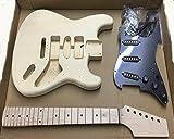 Coban Guitars HY180BR E-gitarre Selbstbau-Kit für Student & Gitarrenbauer Zeigt - schwarz Befestigung, Full size
