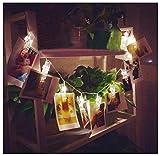 Covermason 10 LED Bilder Dekor Lampe Licht Streifen Klemme Hohl Schnur Licht Draussen Weihnachten Party