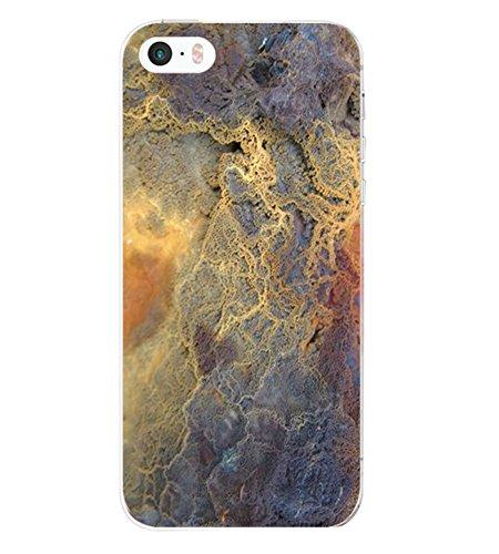 14chvier Kompatibel mit iPhone 5 5S Apple SE Hülle Silikon TPU Schutzhülle Cover Rückschale Blume Flüssigkristall Marmor Handyhülle Schutz Shockproof Handytasche für Apple SE (1)