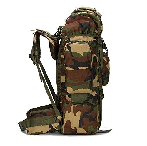 LF&F Outdoor 65-75L große Kapazität Bergsteigen Tasche Camping Camping-Tasche Wandertasche wasserdichte Abdeckung Tarn-Umhängetasche militärischer Rucksack taktischer Rucksack Träne A