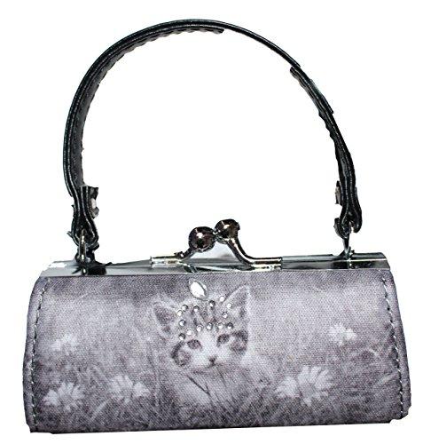 Minibag gioielli täschchen o portamonete con strass Katze 1