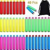 40 Pezzi Plastica Supporti per Gesso, Regolabile Clip di Gesso Colorato Gessetto per Bambini, Insegnanti, Casa, Ufficio e Scuola (40 Pezzi)