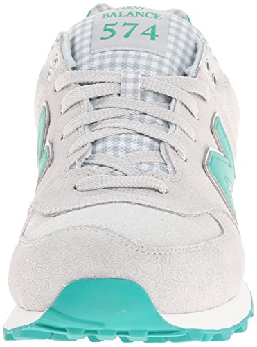 New Balance Men's ML574 Picnic Pack Collection Classic Running Shoe, Grey/Green, 10 2E US Grey / Green
