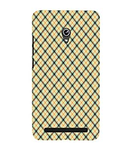 EPICCASE yellow crosses Mobile Back Case Cover For Asus Zenfone 5 (Designer Case)