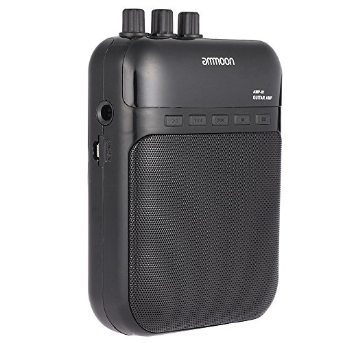 ammoon 5W Amplificatore Registratore per Chitarra Portatile Multifunzione Carta TF Fessura Compatto