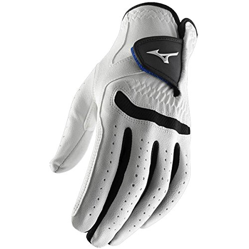 **Pack of 1** Mizuno 2015 All Weather Comp Mens Golf Gloves Left Hand (Right Handed Golfer) White/Black Medium