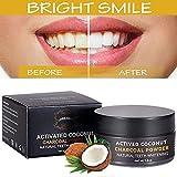 Aktivkohle Pulver Zahnaufhellung,Activated Charcoal Teeth Whitening Powder,Charcoal Bleaching,Bleaching Zähne Entfernen Flecken Polieren & verjüngen Zähne - Zahnreinigung für Weiße Zähne Mint Flavour