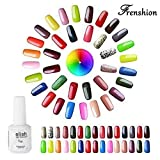 Frenshion 15ML/pc Lot de 10 Esmaltes de Uñas Semi Permanente Gel...
