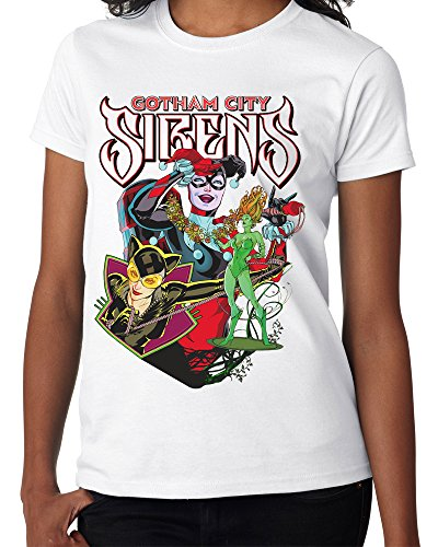 Gotham-City-Sirens-Ladies-White-Tee-Shirt-Size-XX-Large-18-To-20