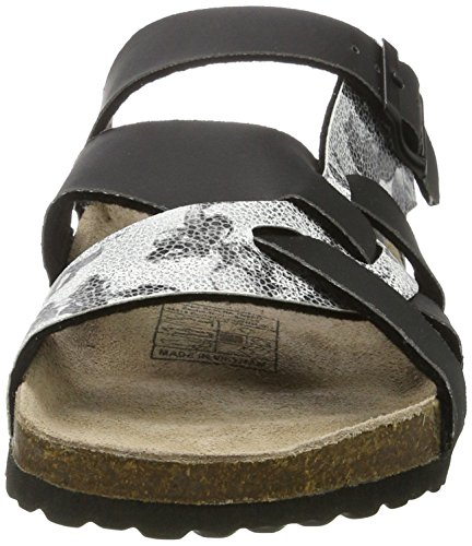 Softwaves 274 547, Ciabatte Donna Nero (Black/Silver)