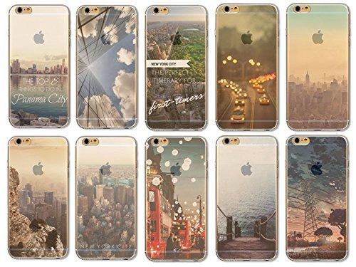 Coque iPhone 6 Plus 6s Plus Housse étui-Case Transparent Liquid Crystal en TPU Silicone Clair,Protection Ultra Mince Premium,Coque Prime pour iPhone 6 Plus 6s Plus-Paysage-style 3 9