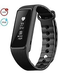Montre Connectée OMorc Tracker d'Activité Bracelet Connecté de Sport Cardiofréquencemètre avec Écran OLED Etanche IP68 Smart Bracelet d'ActivitéBluetooth 4.0, Montre sport Podomètre Calories Sommeil Pour iPhone Android
