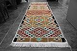 Elessar 65 x 200 cm incl. Fransen, Kelim, Teppich aus dem Orient, Läufer, orientalische Zimmer-Dekoration, Geschenk zum Geburtstag, Wohnung RS 1-3-02