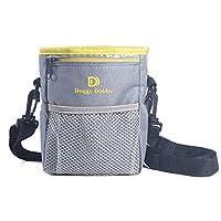 Sacoche à bandoulière améliorée pour dressage de chiens, permet de contenir des friandises, pochette réglable et amovible avec ceinture et bandoulière améliorées extra longues, distributeur de sacs à déjections canines, transporte facilement les friandise