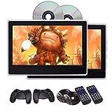 EinCar 11,6 Zoll-LCD-Breitbild-Auto-Kopfst¨¹tze DVD-Player x2 tragbaren Gaming-Monitor mit HDMI-Anschluss Tablet-Style R¨¹cksitzkopfst¨¹tze Eingebauter IR / FM Transmitter Unterst¨¹tzung 32 Bits Spielen mit Fernbedienung Game Disc