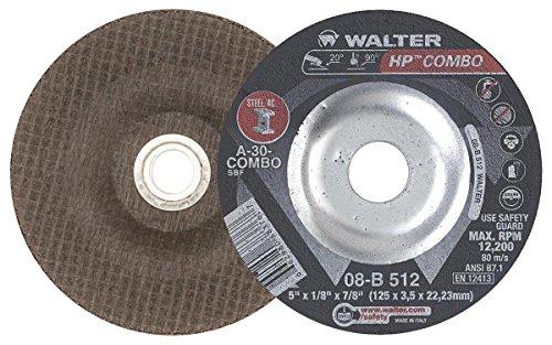 Walter Oberfläche Technologien 08b512HP Combo Schleifstifte Disc, schwarz (25Stück) (Hewlett Packard-combo)