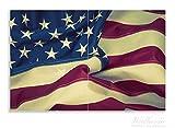 Wallario Herdabdeckplatte / Spritzschutz aus Glas, 2-teilig, 80x52cm, für Ceran- und Induktionsherde, Motiv Amerikanische Flagge im Wind