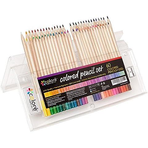 Juego De Caja De Lápices De Colores Para Adultos Y Niños (Juego De 60 Lápices De Colores)