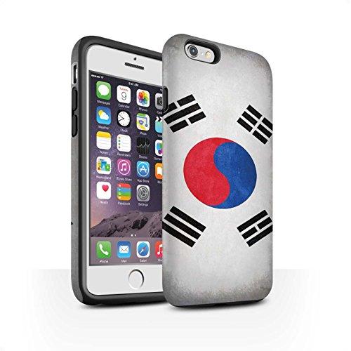 Coque Matte Robuste Antichoc de STUFF4 / Coque pour Apple iPhone 7 Plus / Albanie/Albanais Design / Drapeau Collection Corée/coréen