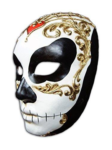 ske Volto Teschio Corazon für Männer und Frauen (männlich) (Maske Für Maskerade Männlich)