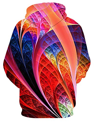 LAIDIPAS Unisex Realistische 3D Galaxy bedruckte große Taschen Drawstring Pullover Hoodie Kapuzen Sweatshirt Style 24