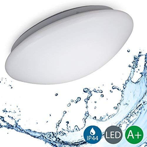 12W Lámpara de baño moderna LED Ø290mm IP44 I Blanco frío 4000K...