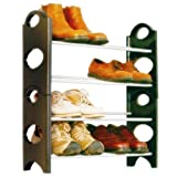 #9: GTC Bells Boss Foldable 12 Pairs Shoe Rack (Brown)