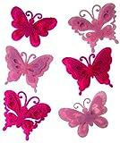 Craftime ac0136C Farbe Anschluss Filz Schmetterlinge, Pink