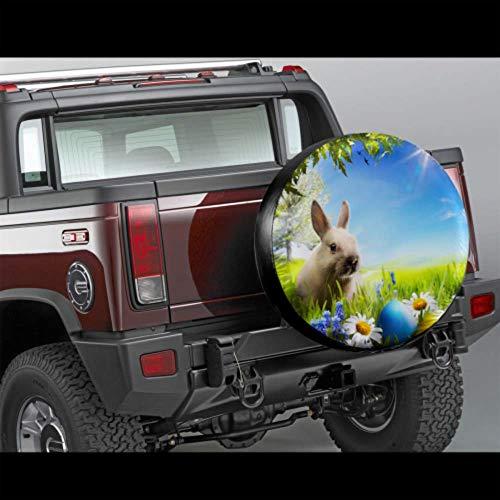 Wietops Art Little Easter Bunny Copertura per Uova di Pasqua Ruota per Pneumatici Protezione per Pneumatici Copertura per Pneumatici Impermeabile UV Sun 14'- 17' Misura per Jeep, rimorchio, Camper,