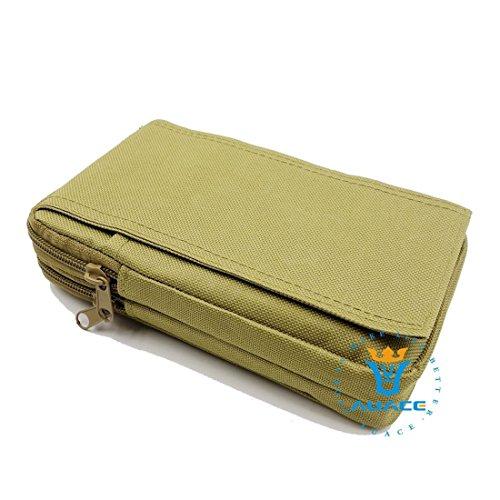 Multifunktions Survival Gear Tactical Beutel MOLLE POUCH Service Bag, Outdoor Camping Tragbare Travel Bags Handtaschen Werkzeug Taschen Waist Bag Handy Pouch KH
