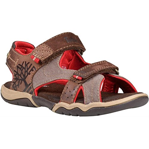 Timberland Park Hopper 2-Strap Infant Plotting Soil Leather Flat Sandals Plotting Soil