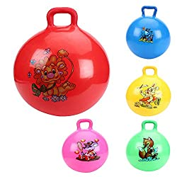 Tickles Jumping Ball Ride-On Bouncy Ball Kid Birthday Gift (Random Color Any 1 ) 41Cm