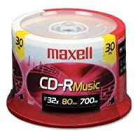 Maxell CD-R 80 Gold Rec'd Music Cd's-30pk Spindle