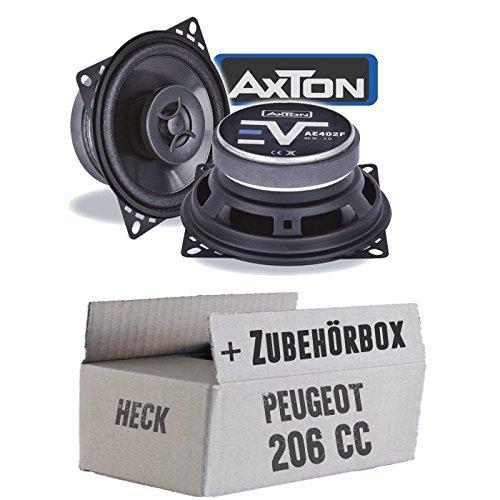 Lautsprecher Boxen Axton AE402F   10cm 2-Wege Koax 100mm Auto Einbauzubehör - Einbauset für Peugeot 206 CC Heck - JUST SOUND best choice for caraudio