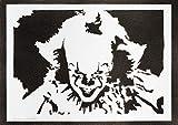 Poster Pennywise ÇA (IT) Affiche Handmade Graffiti Street Art - Artwork