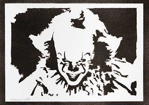 Pennywise ES (IT) Poster Plakat Handmade Graffiti Street Art - Artwork