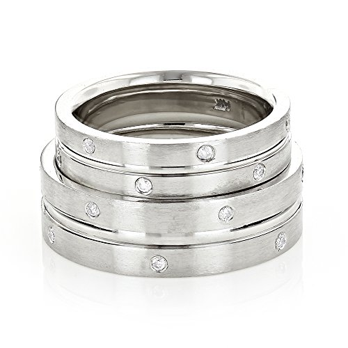 luxurman-matching-his-and-hers-wedding-band-comfort-fit-set-14k-gold-white-gold-size-6
