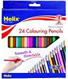 HELIX COLOURING PENCILS - Hexagonal Shape, Strong Leads - Wallet of 24
